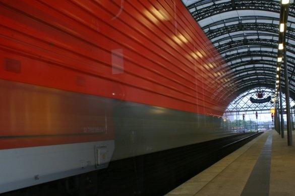 treno in partenza
